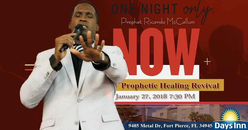Prophetic revival Ricardo McCallum